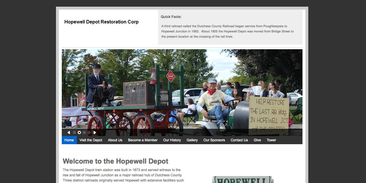 Hopewell Depot Website Screenshot