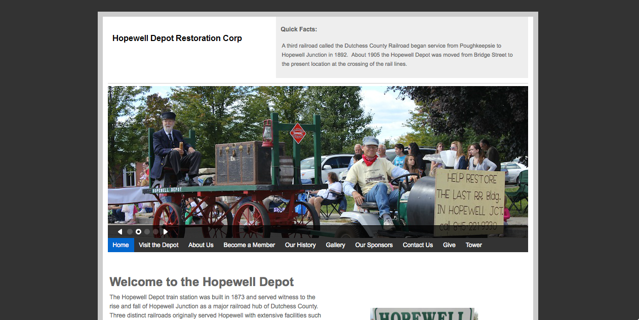Hopewell Depot Website Screenshot