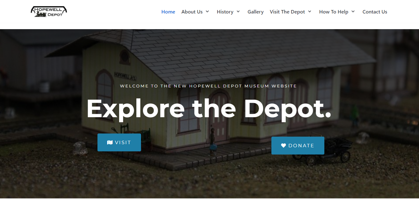 New Hopewell Depot Website Screenshot